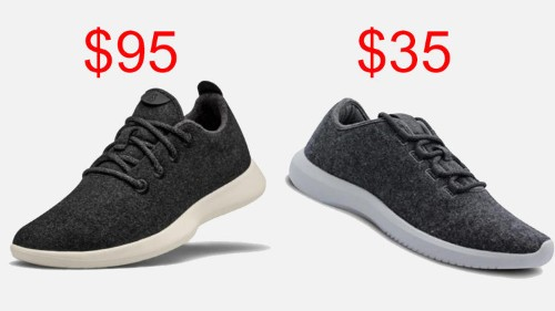 Amazon is selling wool sneakers that are very similar to Allbirds