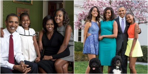 Before-and-after photos of presidents and first families