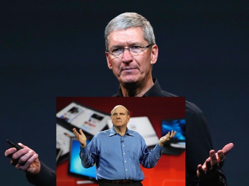 Why Tim Cook is Steve Ballmer and why he still has his job at Apple