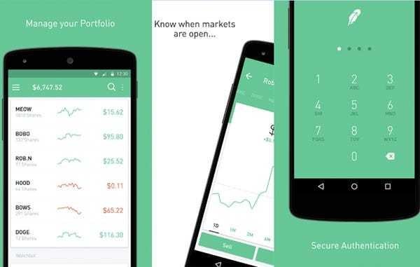 Robinhood stock trading app latest round valued at $1.3 billion - Business Insider
