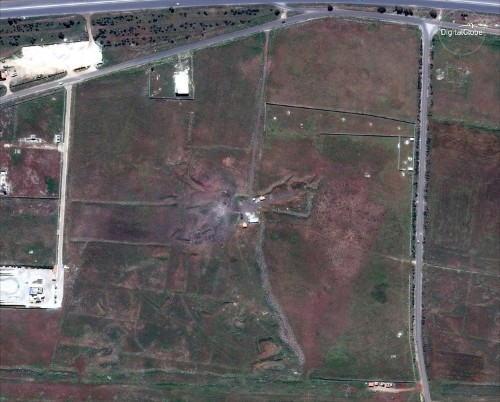 Satellite photos show what Syrian sites looked like before and after the US-led strikes