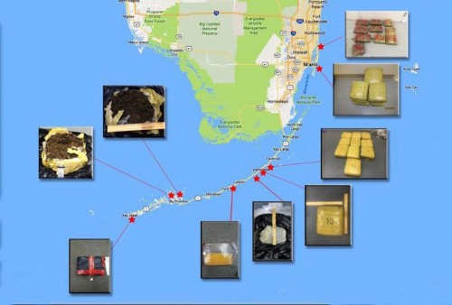 Caribbean smuggling routes are still active, and 400 pounds of marijuana floating in the Florida Keys are proof
