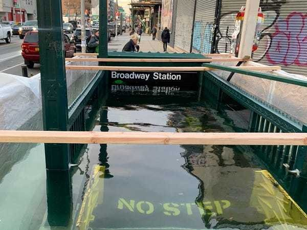 MTA floods NYC subway stop to test flood barrier against climate threat - Business Insider