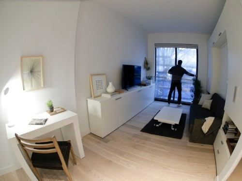 Inside NYC's first 'micro apartment' building, where 60,000 people have applied to live and a 302 square foot market rate unit costs $2,750 a month
