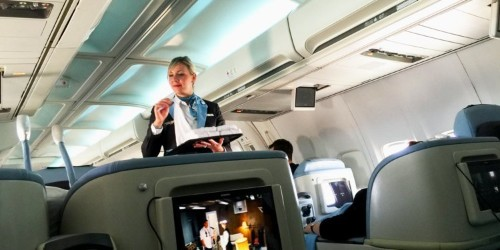 Flying La Compagnie business-class airline