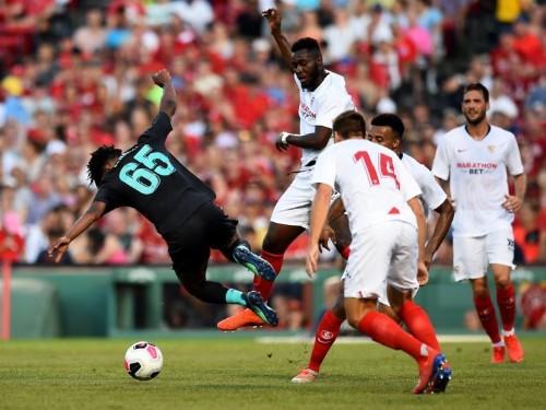Sevilla's Gnagnon Joris apologized for 'odious' foul on Liverpool's Yasser Larouci