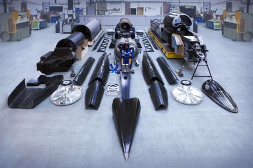 This is the supersonic 'Bloodhound Car' that's aiming for a land speed record