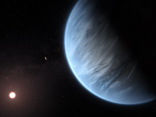 Water vapor discovered on potentially habitable super-Earth exoplanet