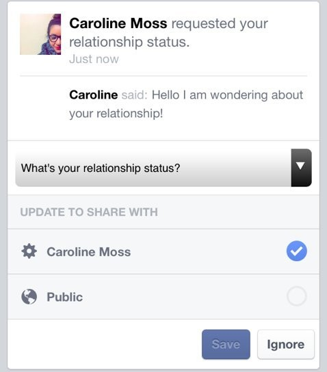 Facebook Just Added A Button That Lets You Ask Your Friends Why They're Single
