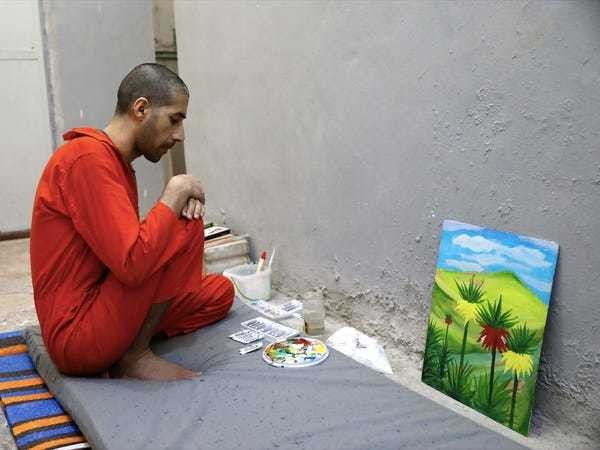 A secret ISIS prison deradicalizes prisoners by making them paint - Business Insider