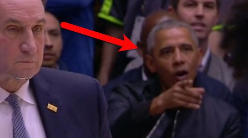 Camera caught Obama's reaction the moment Zion Williamson's shoe exploded and he injured his knee