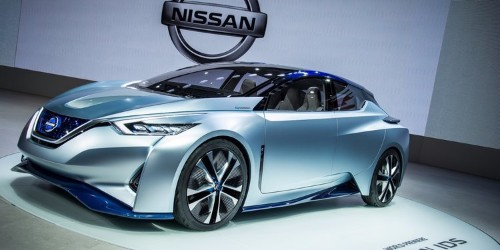 Nissan built a self-driving car with a steering wheel that transforms into a tablet
