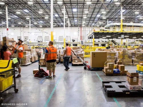 This map of Amazon's warehouse locations shows how it's taking over America