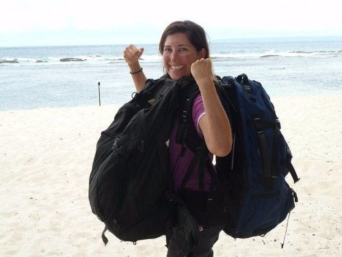 A woman who went backpacking for 11 months explains how to pack light