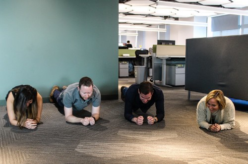 We Went To SurveyMonkey, Where Engineers Use Treadmill Desks And Do Planks Between Coding