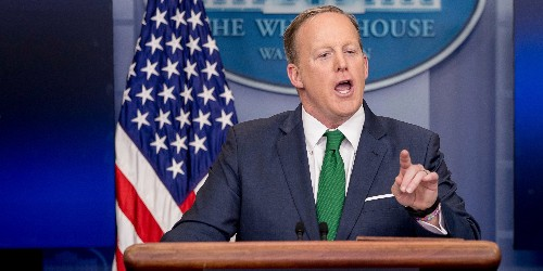 'CALM DOWN': Watch Sean Spicer spar with reporters over Trump's wiretap claims