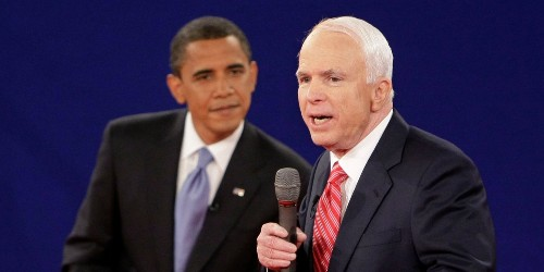 McCain defended Obama as a 'decent family man' during 2008 election
