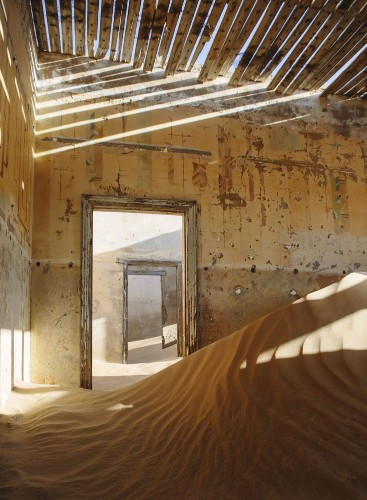 This abandoned town in Namibia has been filling with sand for 50 years