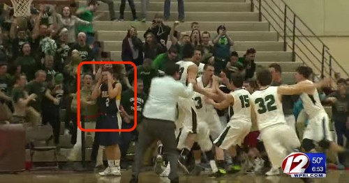 A Rhode Island high school basketball team blew a state championship by celebrating too early