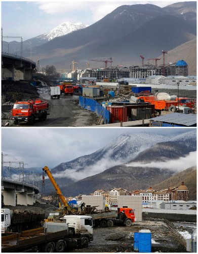 Before-And-After Pictures Show How Sochi Has Changed In The Year Leading Up To The Olympics