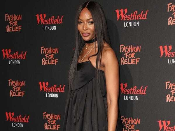 Naomi Campbell wears 2000s-inspired bubble dress and capris - Business Insider