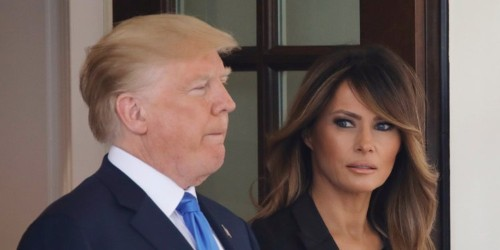 Trump misspelled his wife's name in a tweet welcoming her home from the hospital