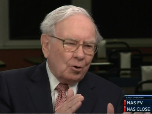 WARREN BUFFETT: Stocks are going 'a lot higher'