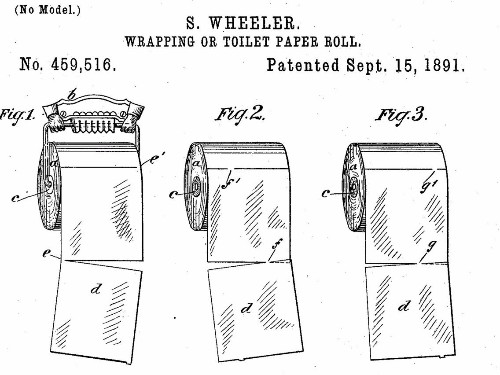 124-year-old patent solves the 'over versus under' toilet paper roll debate