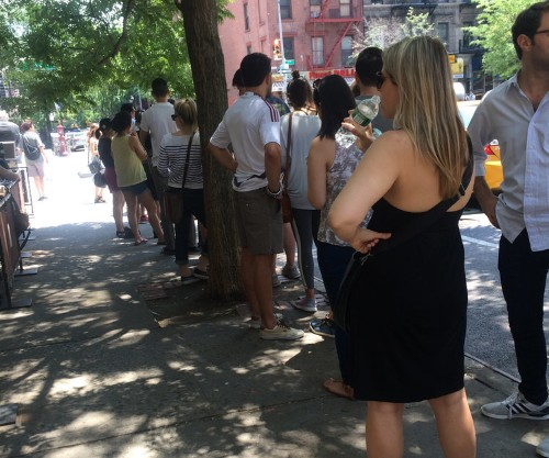 This is the line to get into Fuku, home of David Chang's gigantic fried chicken sandwich