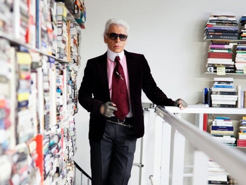 Take a look inside the massive, eclectic library of noted designer Karl Lagerfeld - Business Insider