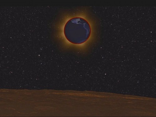 A NASA video shows what a total lunar eclipse looks like from the moon, and it's mind-blowing