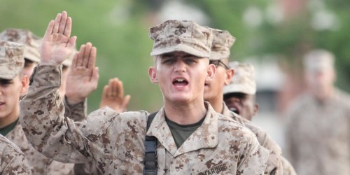 He survived boot camp and cancer to finally become a Marine after 956 days
