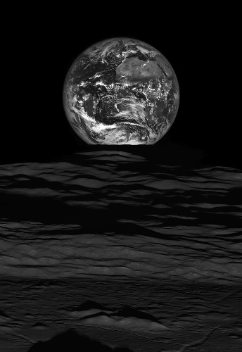 NASA released a spectacular new image of the Earth from the moon