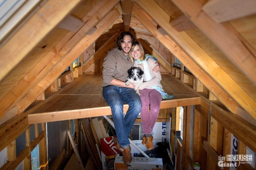This couple quit their jobs, built a tiny house, and earn their living by blogging about their cross-country adventure