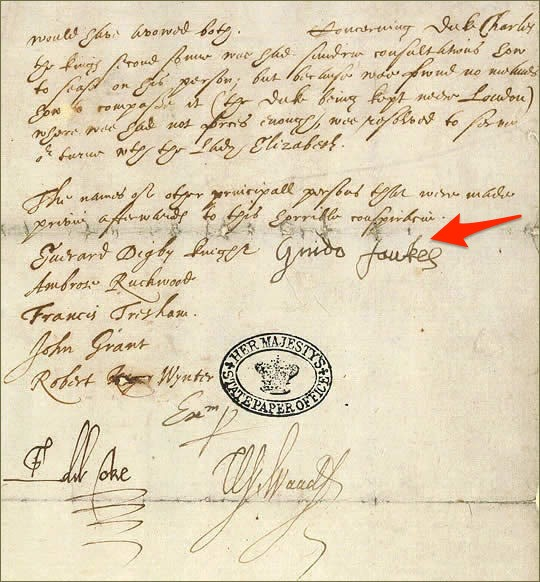 It's Guy Fawkes Day — here's his signature before and after he was tortured