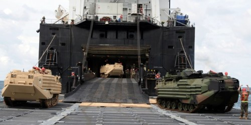 US stress tests ships that will carry troops to a great power war