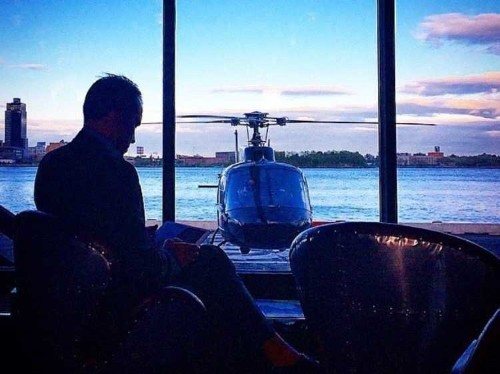 What it's like onboard the swanky 'Uber for helicopters,' where riders get served rosé in sippy cups