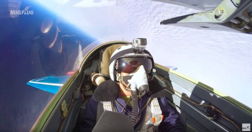 Incredible footage shows what it's like to fly at supersonic speed in the stratosphere