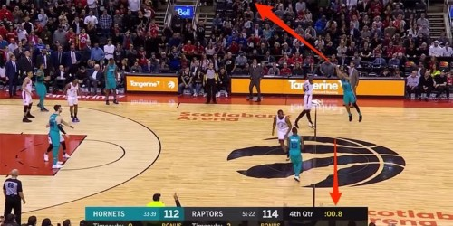 Hornets player hits last-second heave from beyond half-court in craziest game-winner of the NBA season