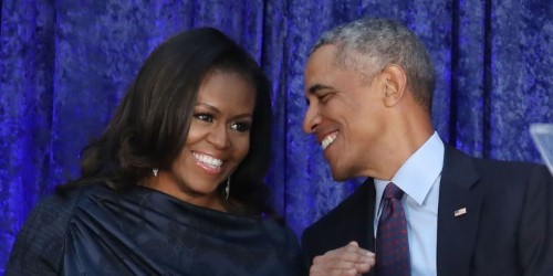 Obama gets competitive with Michelle's book, says she used ghostwriter
