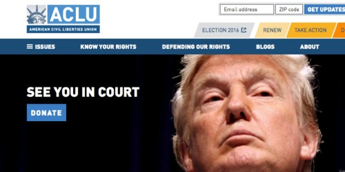 The ACLU received a record $24 million in donations after Trump's immigration order