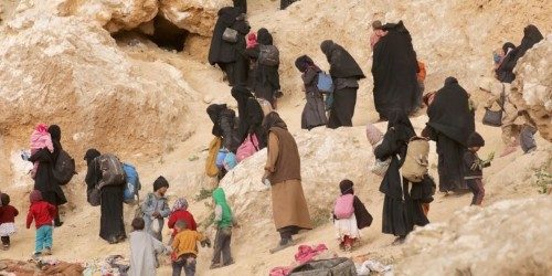ISIS fighters reportedly used their wives and children as human shields before US-backed forces destroyed the last shred of their 'caliphate'