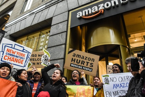 Amazon's HQ2 decision is caught in a political firestorm, its CEO is tabloid fodder, its guidance was weak — and its stock hasn't budged. Here's why.
