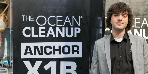 A 22-year-old has raised $30M to trap plastic floating in the great Pacific garbage patch