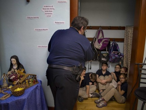 How First-Graders Prepare For Armed Gunmen Trying To Get In Their Classrooms