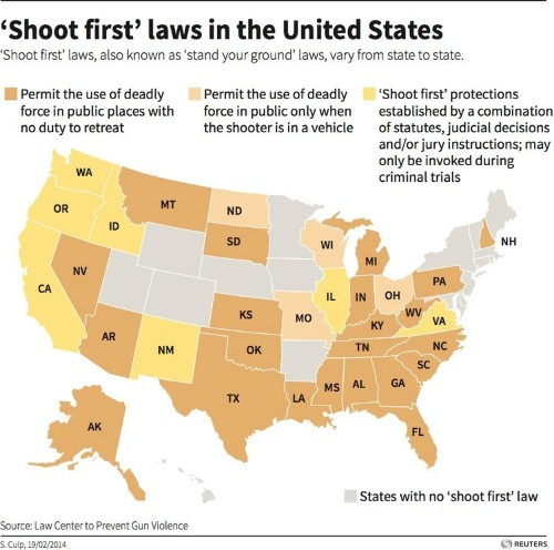 Look At All The States That Let People Stand Their Ground And Shoot