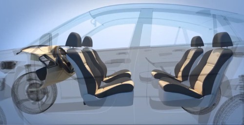 Ford has patented an autonomous car that can transform into a lounge while driving