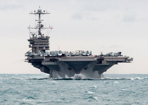US Navy releases video of Iran firing rockets near a US aircraft carrier