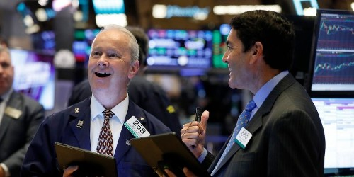 Stocks are soaring on fresh hopes of a 'tidal wave' of government stimulus and an end to the US-China trade war