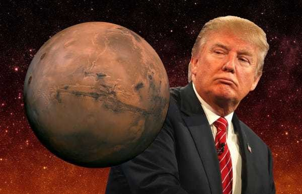 Yes, defecting to Mars during Trump's presidency is theoretically possible - Business Insider